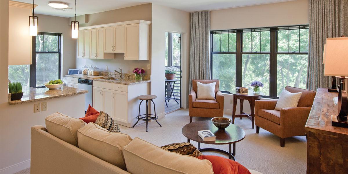 Waterstone at Wellesley Living Room