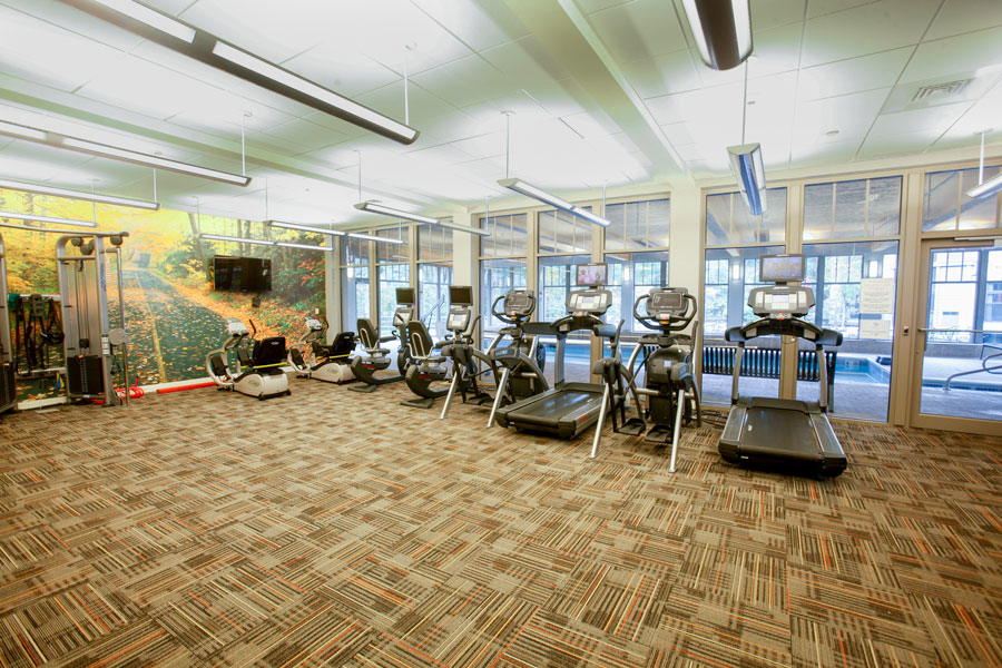 Exercise room at Waterstone at Wellesley