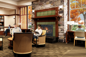 Waterstone at Wellesley | Fireplaces will feature handmade-glazed tiles