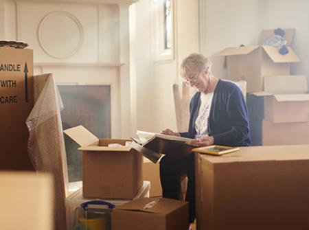 Senior packing and downsizing
